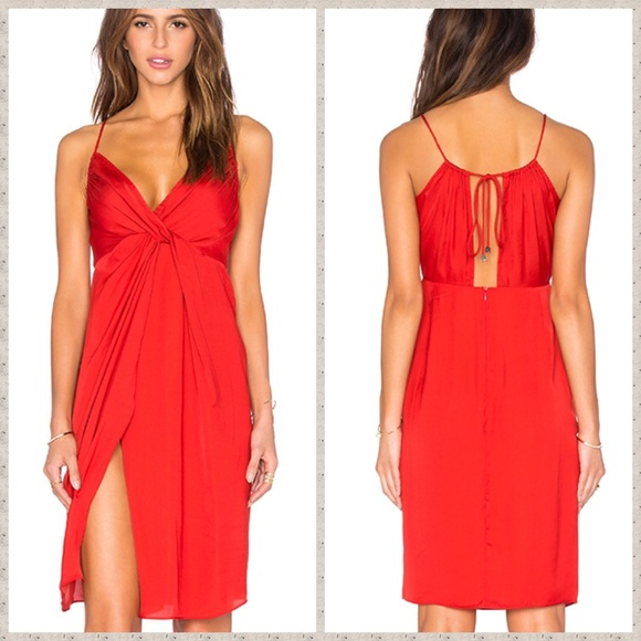 a2cc2f4d1 Bec & Bridge Dresses | Nwt Bec Bridge Casablanca Red Midi Dress Gown ...